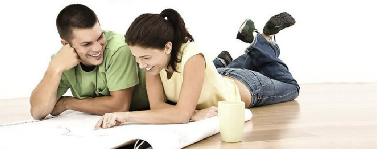 Couple with papers