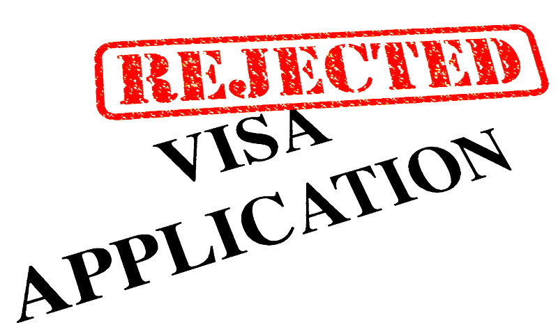Visa application rejected
