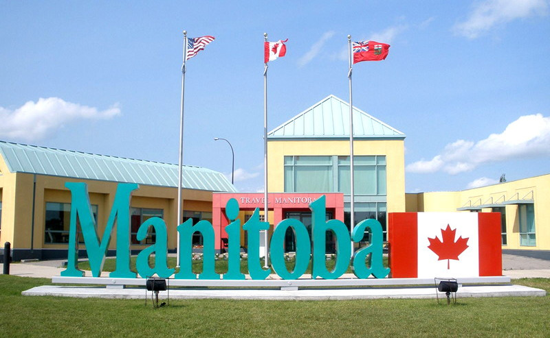 Manitoba welcome sign