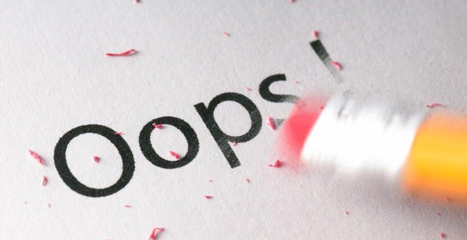 Mistake correction